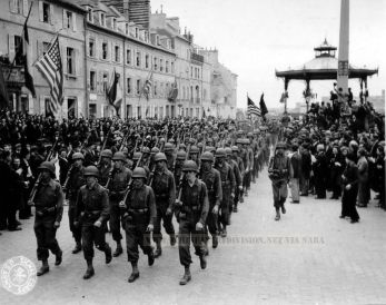 9th Infantry Division March in Cherbourg 1944