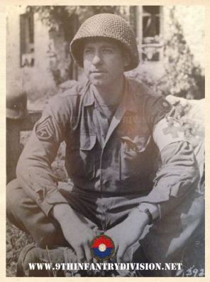 9th Infantry Division Medic in Normandy, France in July 1944.