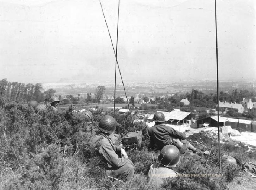 Radio post 9th Infantry Division Cherbourg