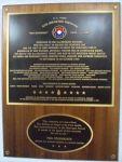 9th Division plaque at Hurtgen Forest Museum