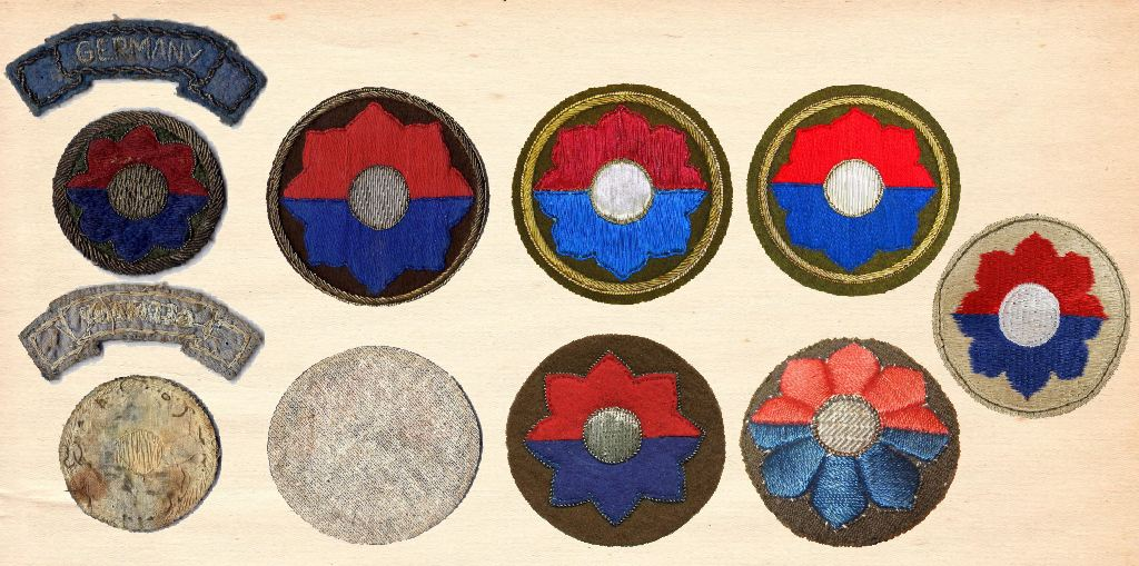 9th Infantry Division Octofoil Patches