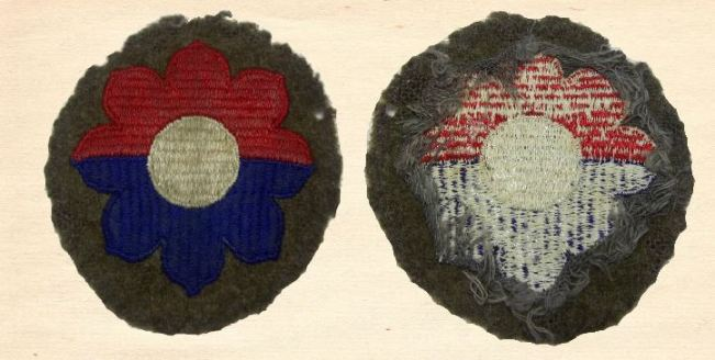 Rare World War 2 Wool Patch with different stitching.