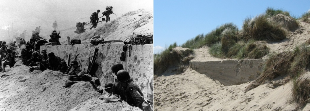 Utah Beach Then and Now