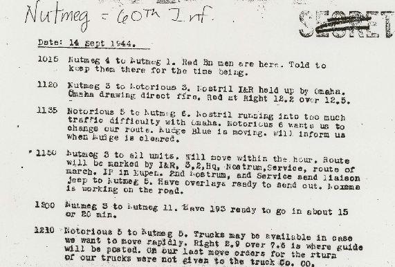 9th Infantry Division Radio Report