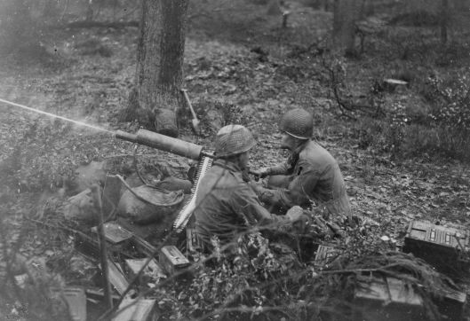 Men of 2nd Platoon, D Company 39th Infantry Regiment in action