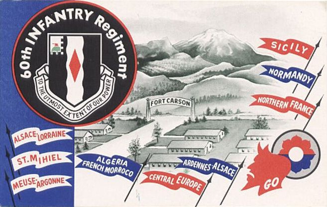 60th Infantry Regiment Card