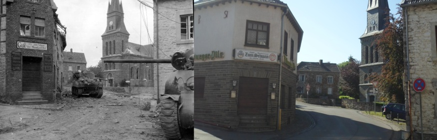 Schevenhutte in 1944 and in 2012