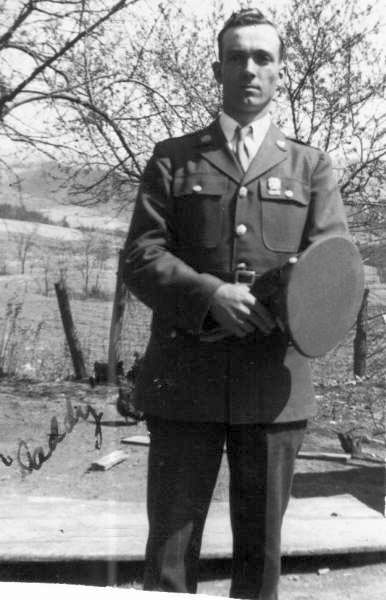 Elmer Heath as he left to fight the war