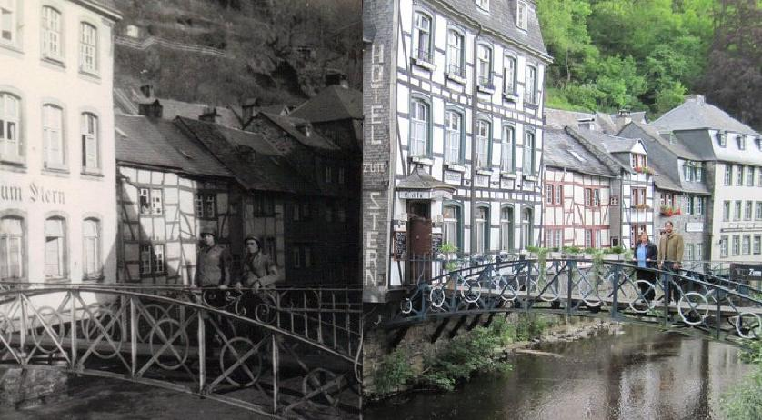 Monschau Then and Now