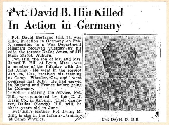 News clipping David B Hill