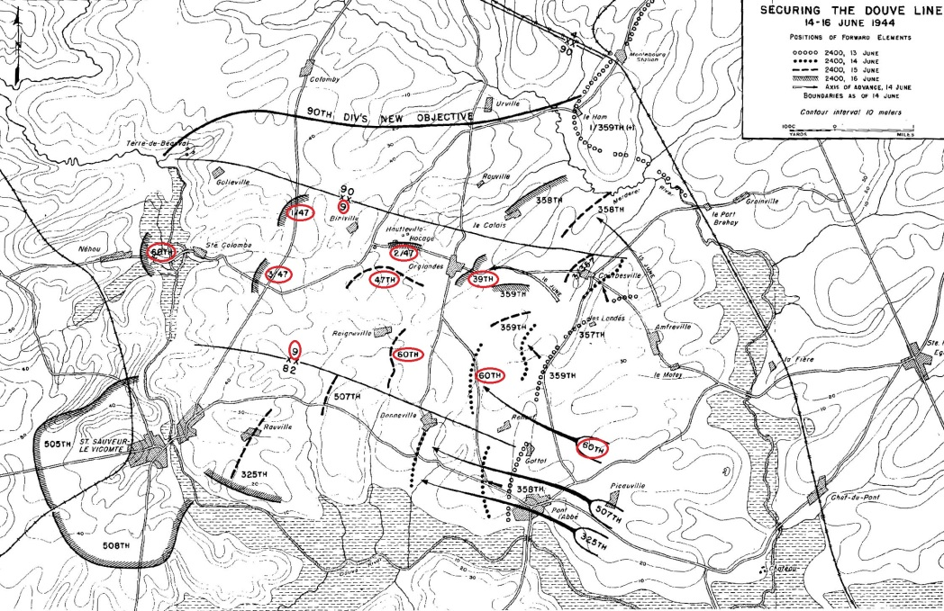 9th Infantry Division Normandy Actions
