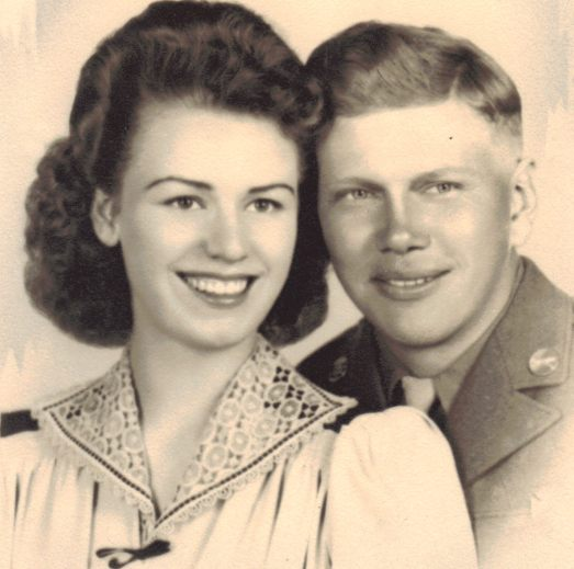 Clarence and Carolyn Forslund - Wedding photo