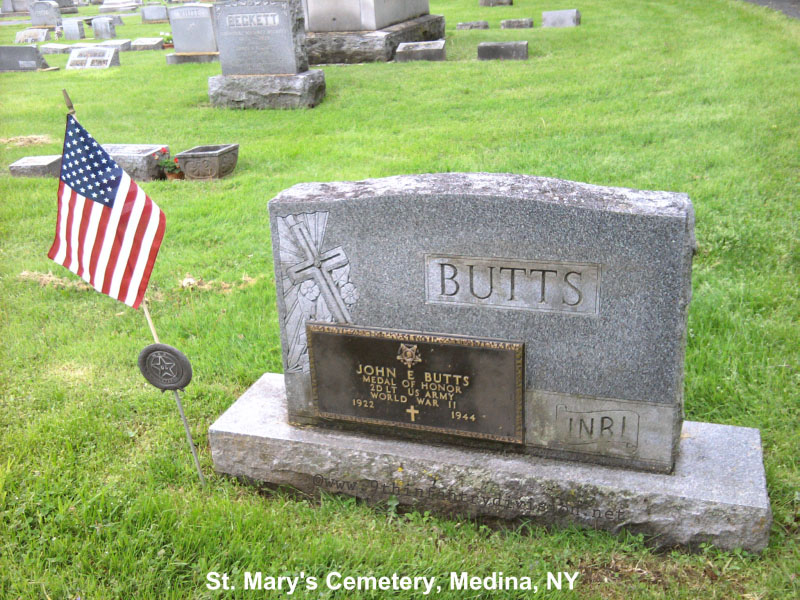 John E Butts headstone
