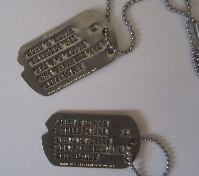 John E Butts Dog Tags