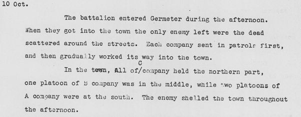 After Action Report Oct 10 1944