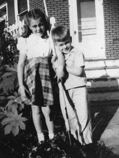 A very young Pat and Jim, 9 and 6 years old here.