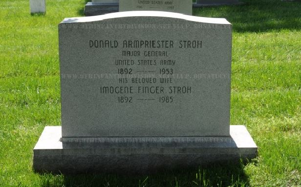 Major General Donald A. Stroh's Grave at the Arlington Cemetery, WA