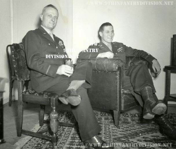 Robert Stumpf and his Father-in-law Major General Donald A. Stroh at the 8th ID command post on November 3rd, the 52nd birthday of Major General Stroh.