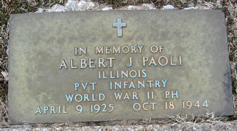 Albert Paoli Grave marker