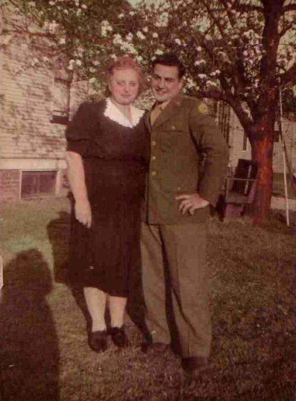 Albert and his mom in 1944.