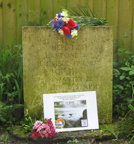 Hambone Jr. Memorial in Alresford, UK
