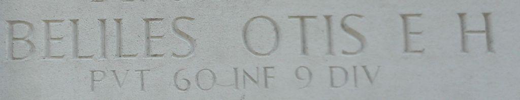 Otis Beliles's name on the Wall of Missing Margraten