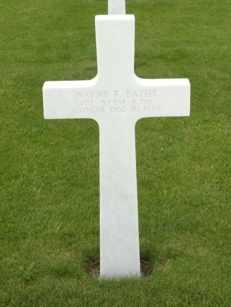 Wayne Bathe Burial Marker