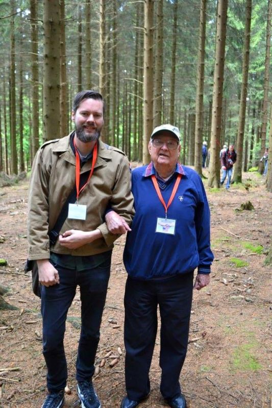 Yuri with 9th Infantry Division veteran Jack Dauner.