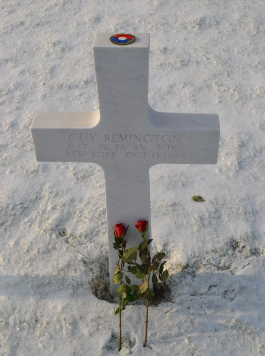 Guy Remington Grave on a snowy day.