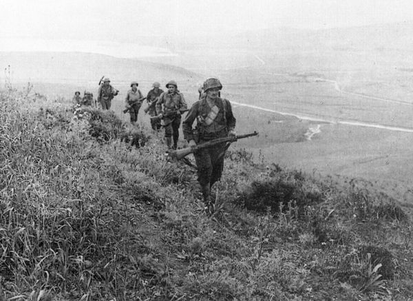 60th IR men on hills outside Bizerte on May 7, 1943