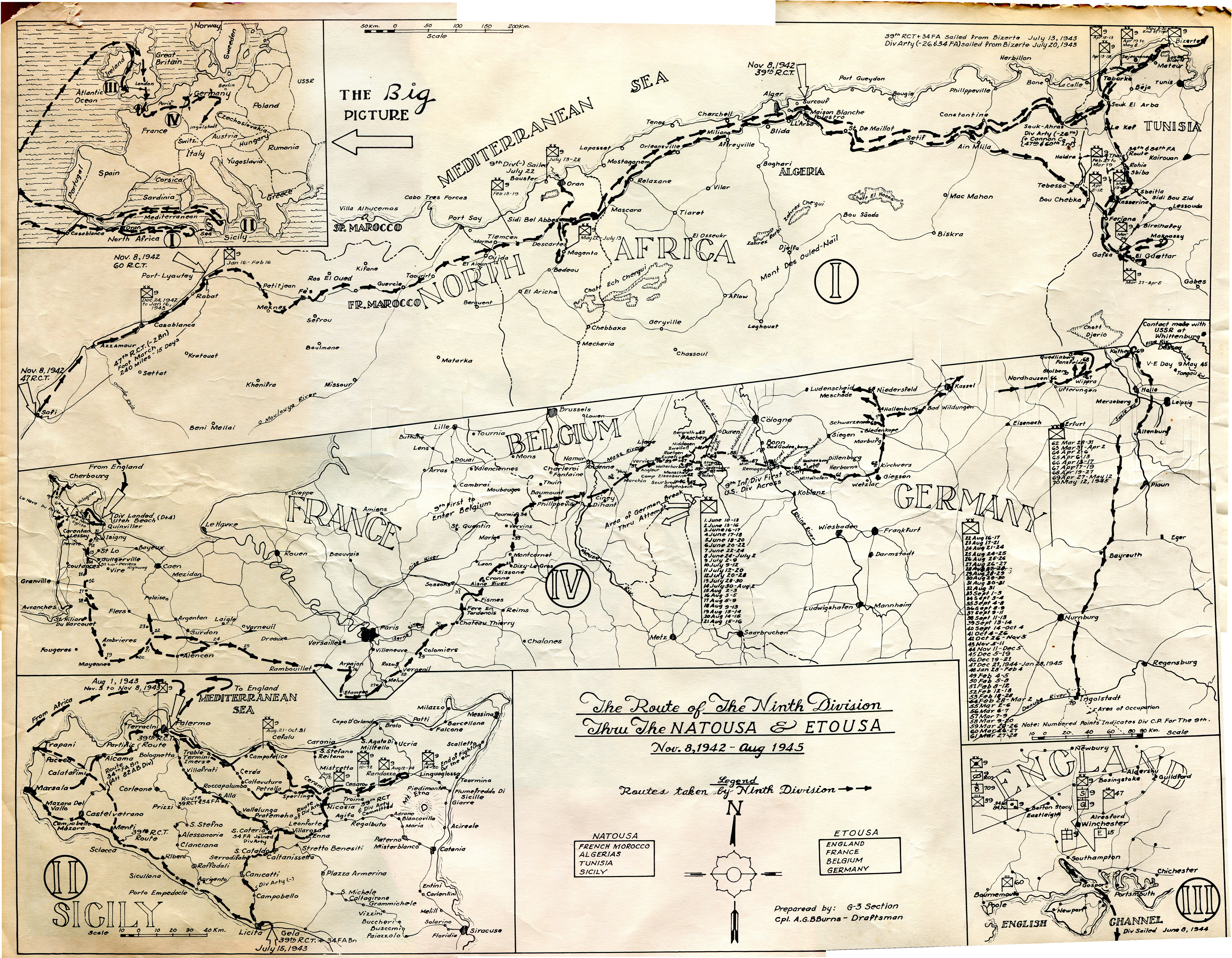9th Infantry Division Route Map | 9th Infantry Division