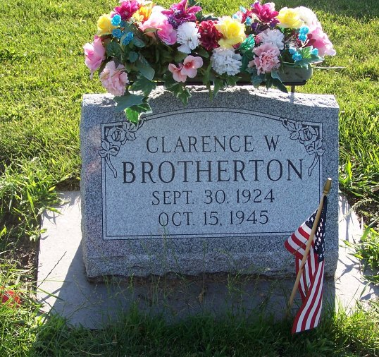 Another beautiful marker for Clarence Brotherton. Forever remembered.