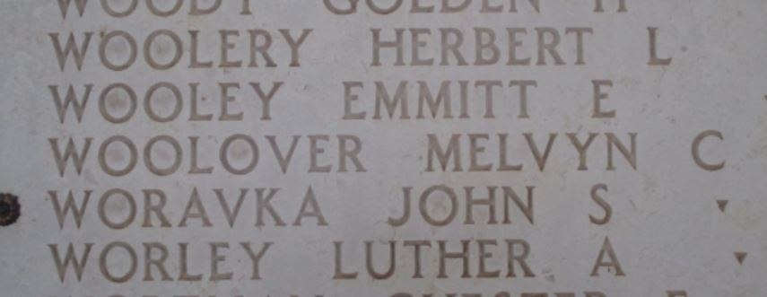 Melvyn C. Woolover on the Wall of Missing in Tunisia.