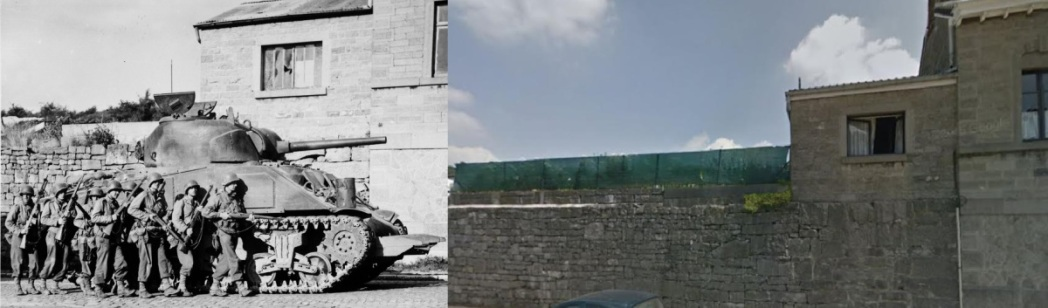 Rue Fond Leval Then and Now