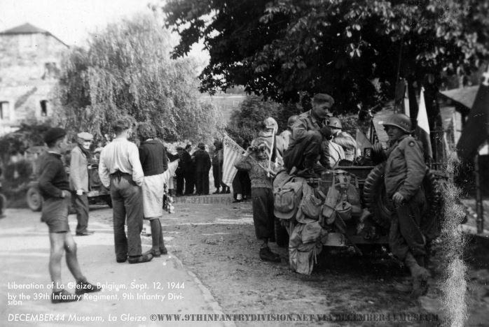 39th Infantry Regiment enters La Gleize, Belgium on September 12th, 1944.
