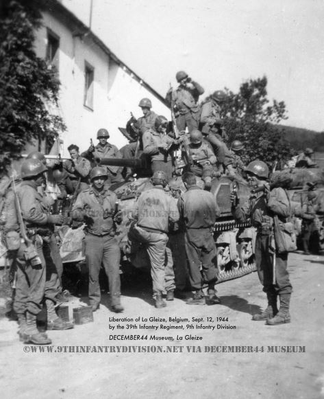 39th Infantry Regiment enters La Gleize, Belgium on September 12th, 1944.