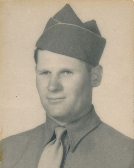 Leslie Earl Shankles after entering service in the US Army.