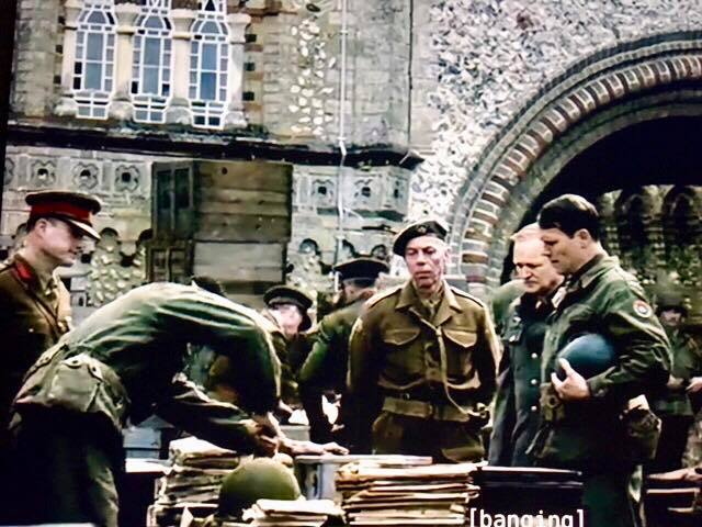 The Crown unloading scene