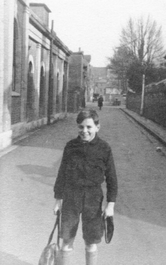 School boy in Winchester - By Frank Lovell