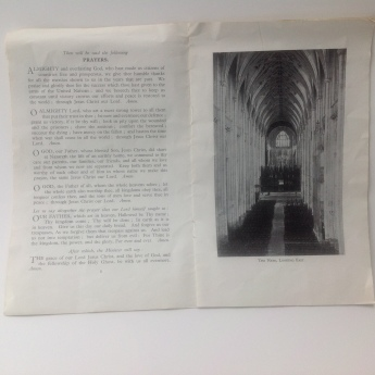 Winchester Cathedral Divisional Service Booklet - 2