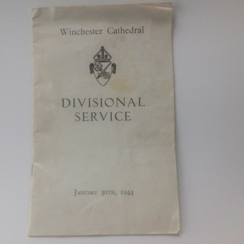 Winchester Cathedral Divisional Service Booklet - Front