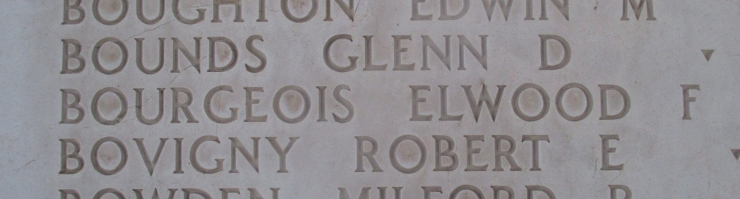 Elwood F. Bourgeois on Wall of Missing
