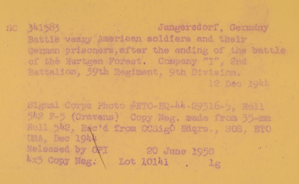 Archival picture info: I / 2nd Bn
