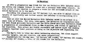 After Action Report 26th Field Artillery Battalion 10 December 1944.