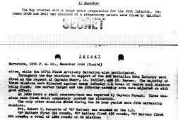 After Action Report 26th Field Artillery Battalion 11 December 1944.