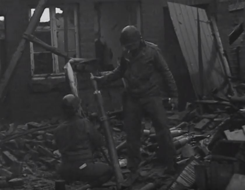 81mm Mortar Crew in action at Jungersdorf