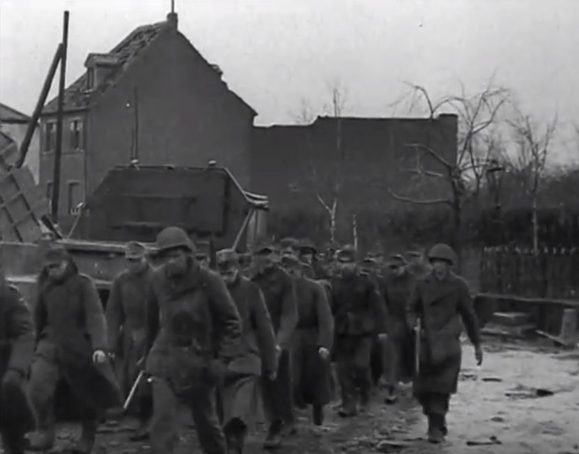 The first German prisoners arrived.