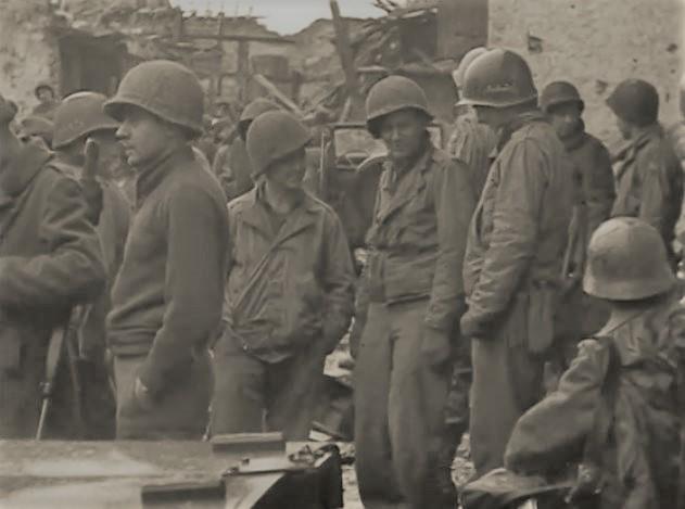 US GIs of 2nd Bn, 39th Infantry Regiment at the Jungersdorfer Hof.