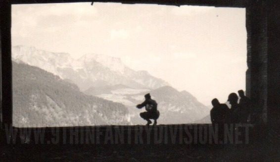 At the famous window of the Eagles Nest, at Berchtesgarden