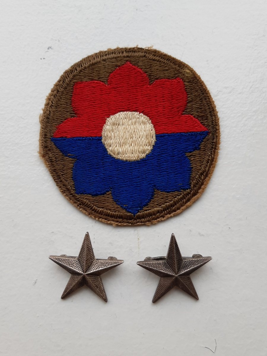 Brigadier General Donald A. Stroh's shoulder patch and General stars.